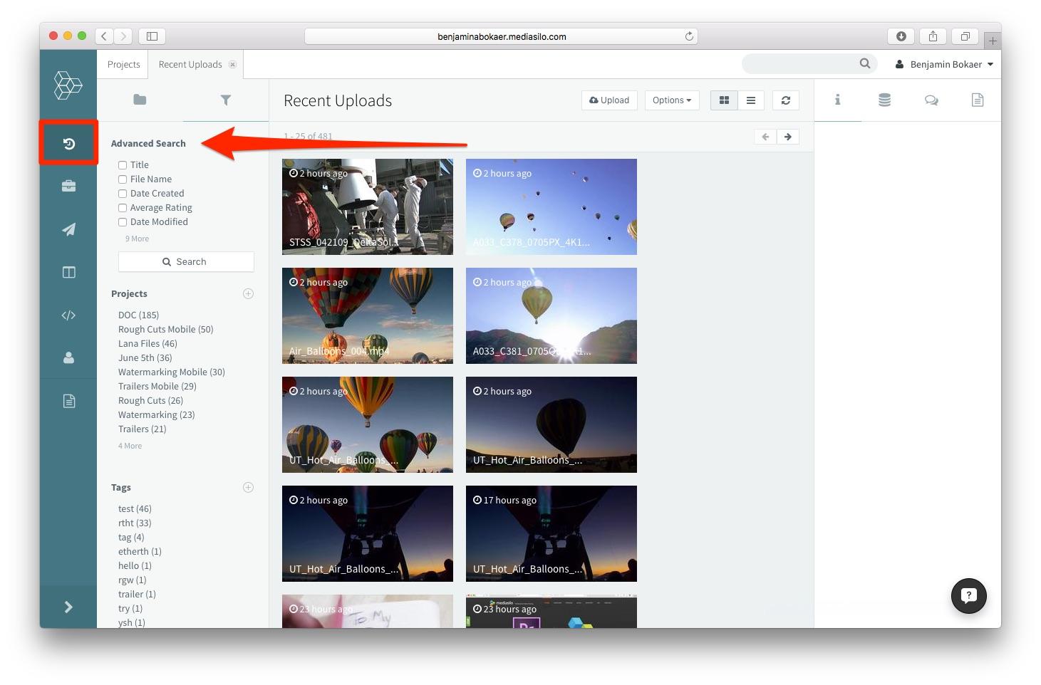 Advanced Search – MediaSilo Knowledge Base
